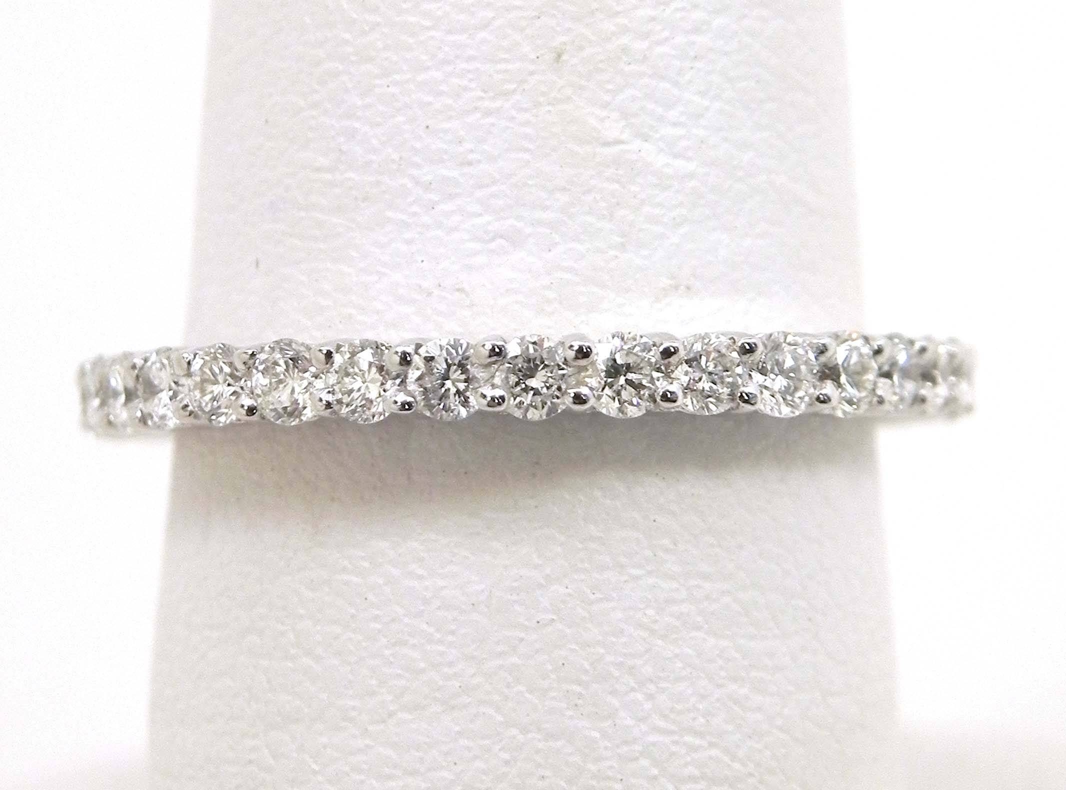 Ladies 18K White Gold 1.02 Cts. Diamonds Eternity Wedding Band With Most Recent Eternity Wedding Bands (Gallery 13 of 15)