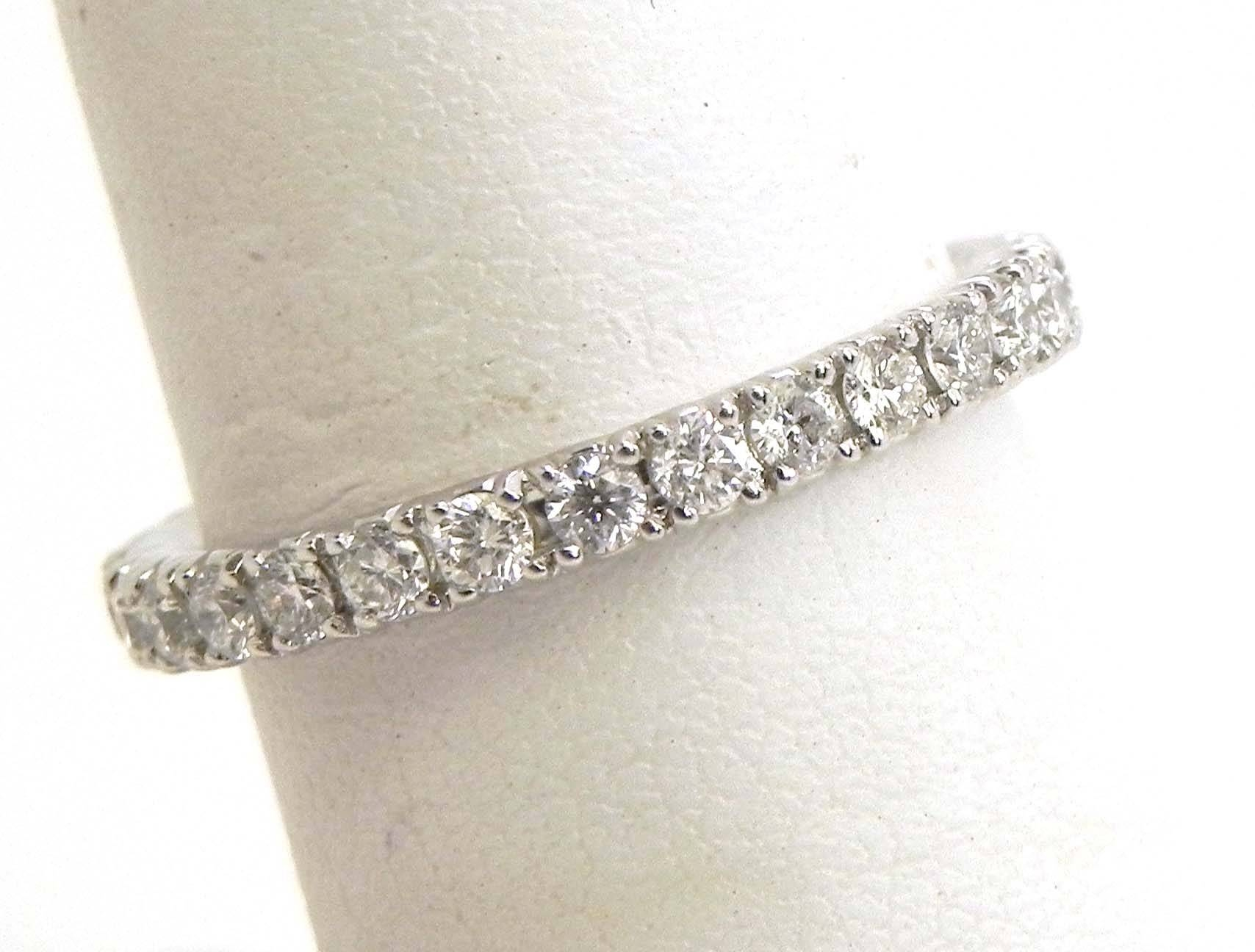 Ladies 18K White Gold Diamonds Eternity Wedding Band Ring | Bright Within Most Recent Eternity Wedding Bands (Gallery 7 of 15)