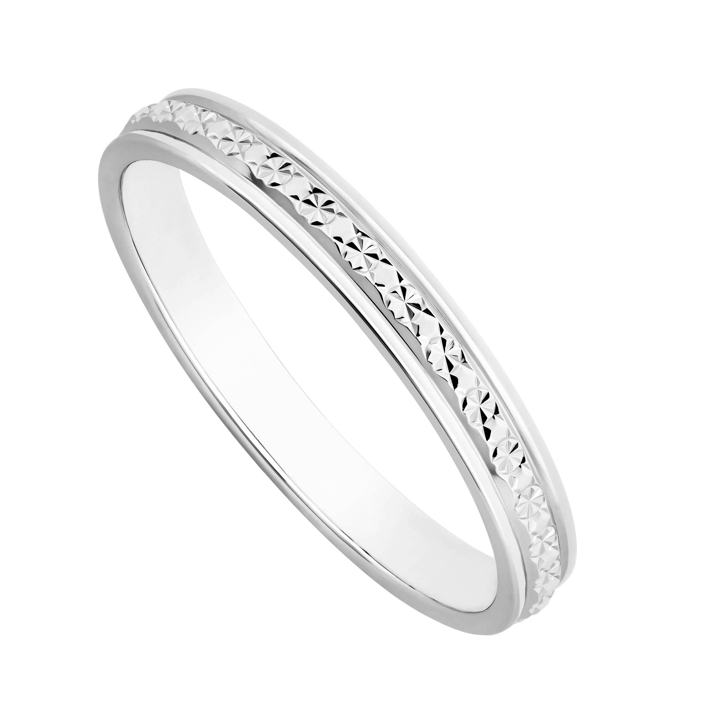 Ladies' 9Ct White Gold One Row Sparkle Cut Wedding Ring In Ladies White Gold Diamond Wedding Bands (View 7 of 15)