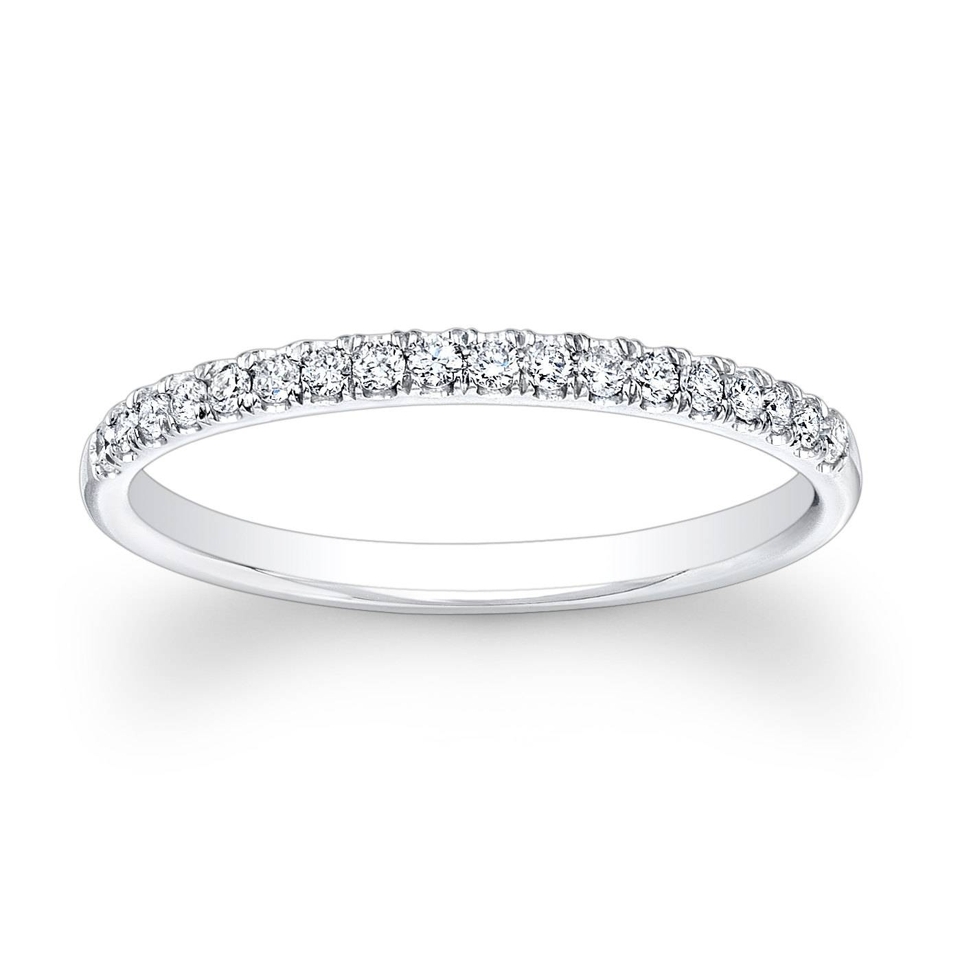 Ladies Platinum And Diamond Wedding Band 0.20 Ctw G Vs2 Intended For Most Recently Released Platinum Wedding Band With Diamonds (Gallery 2 of 15)