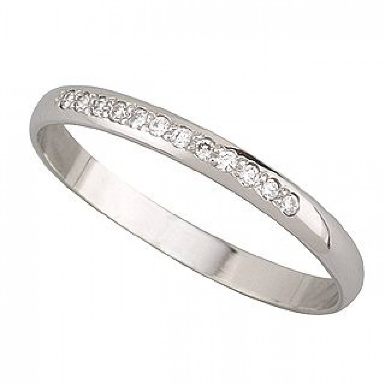 Ladies' Platinum Diamond Claw Set Wedding Ring With Womens Platinum Wedding Bands (View 8 of 15)