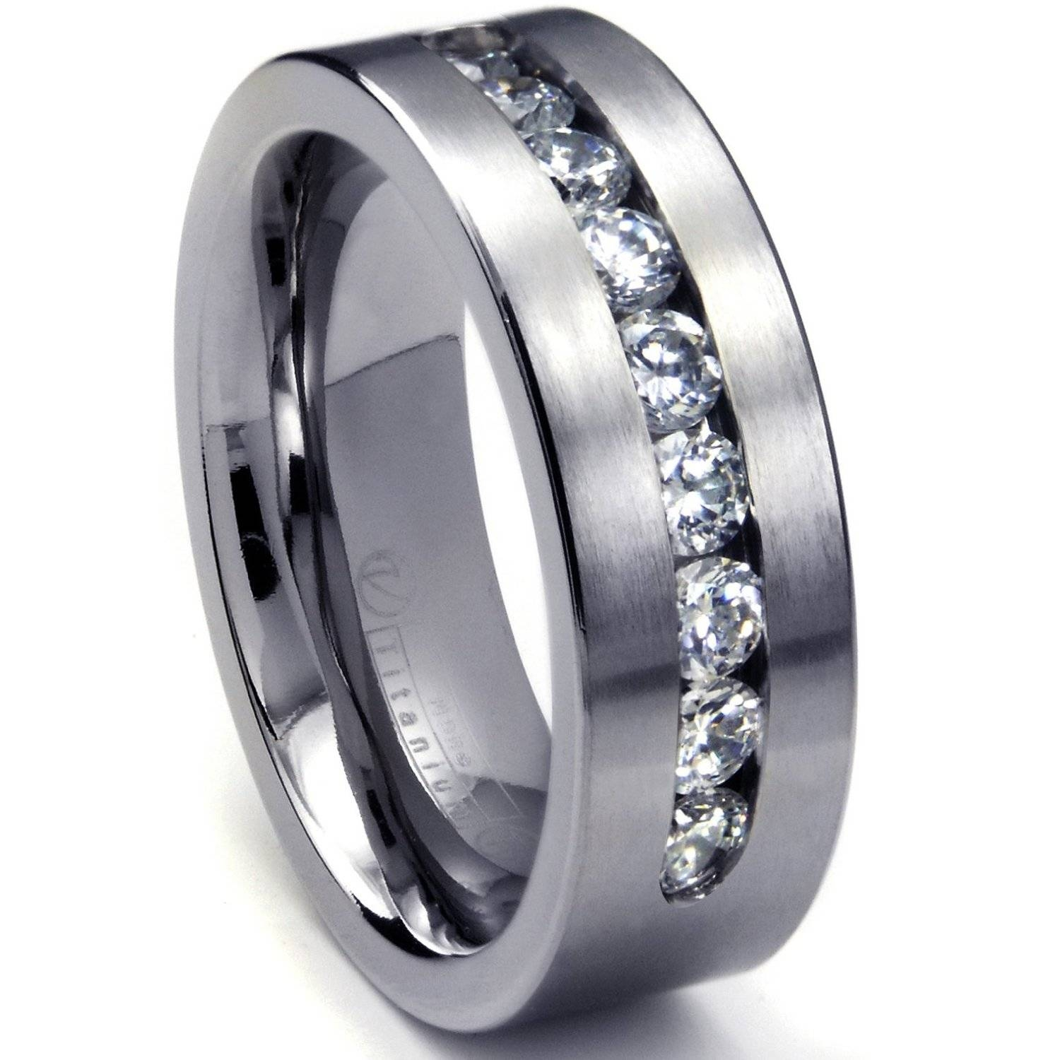 Large Wedding Rings Tags : Wedding Diamond Rings For Women Mens With Titanium Wedding Bands For Him (View 13 of 15)