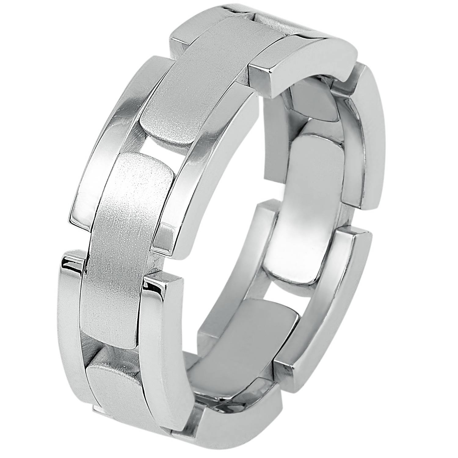Link Wedding Band | Indianapolis Men's Wedding Bands Regarding Flexible Mens Wedding Bands (View 11 of 15)