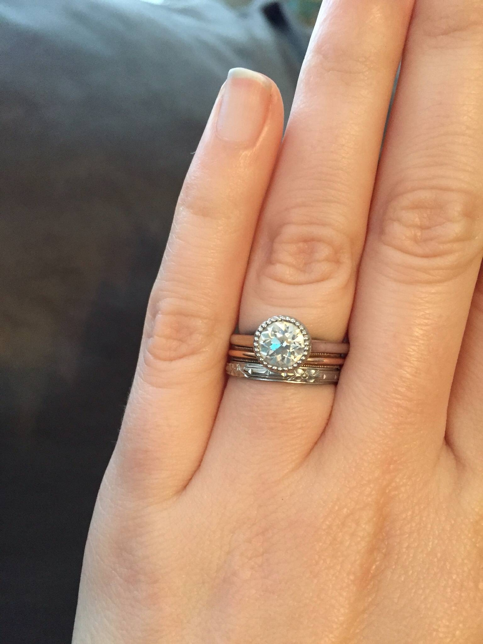 Looking For Ideas For Wedding Band With Bezel Set Engagement Ring For Most Up To Date Bezel Set Engagement Rings With Wedding Bands (Gallery 1 of 15)