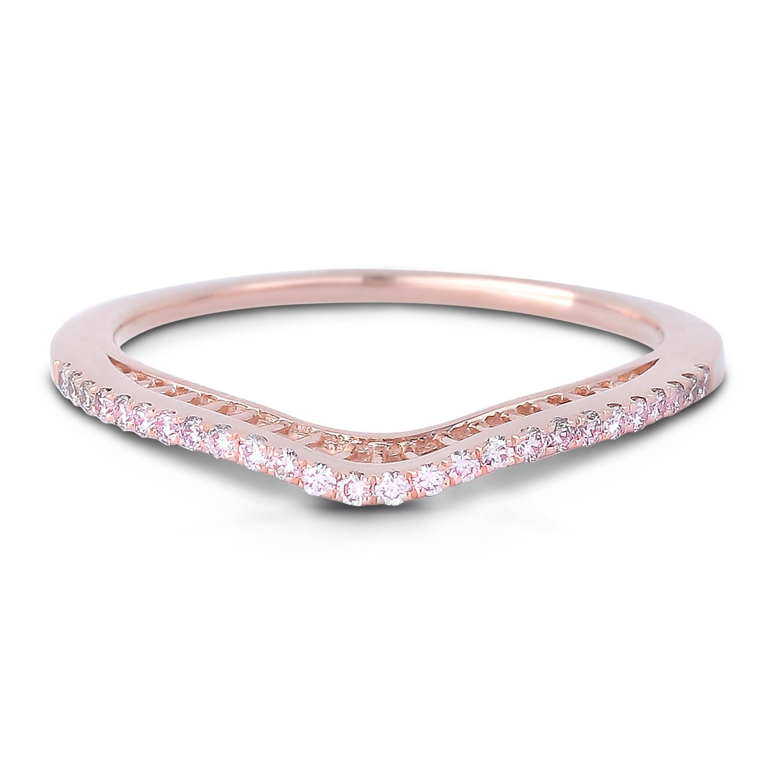 band champagne diamond wedding bands rose gold ring rivoir