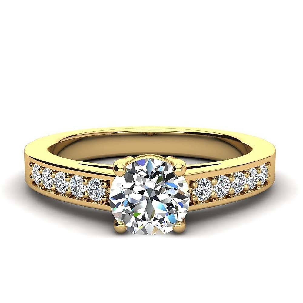 Luxurman 14K Gold Classic Diamond Engagement Ring  (View 8 of 15)