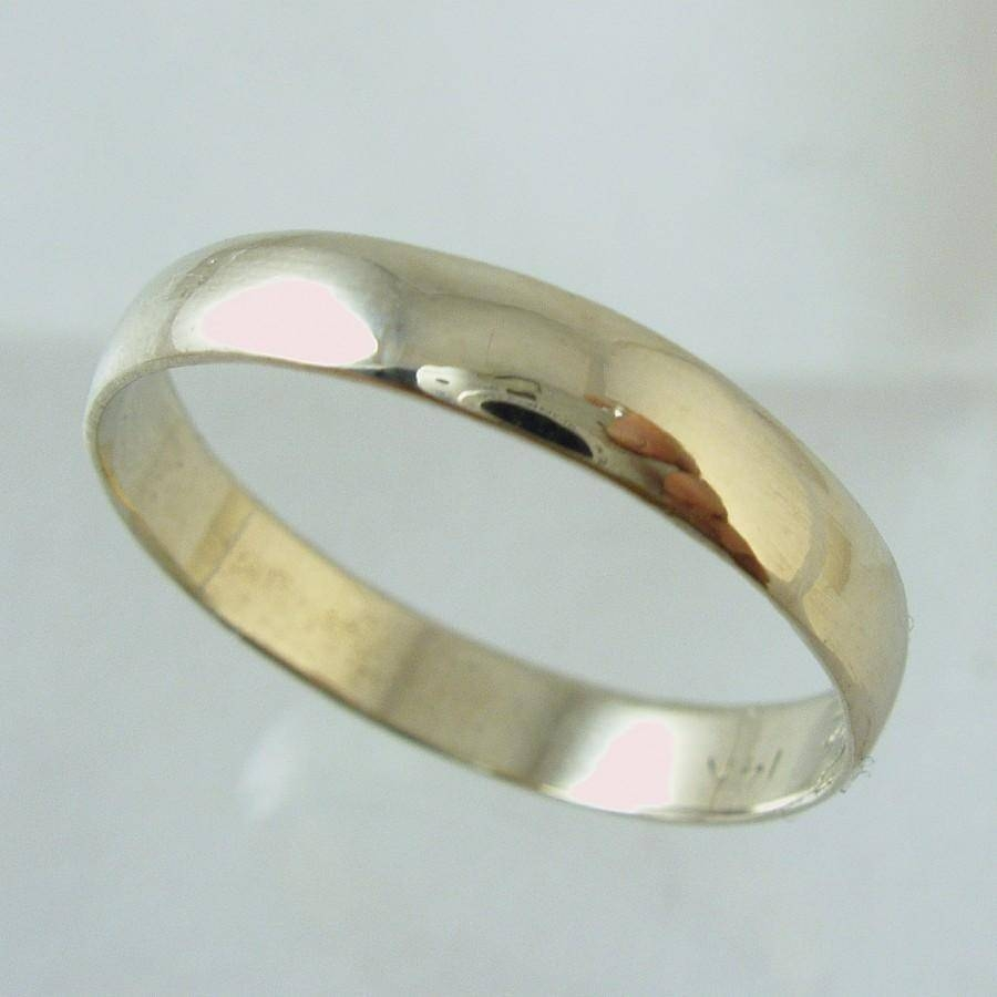 Man Wedding Band,14 Karat Recycled Gold Ring, Wedding Band, Woman Within 14 Karat Gold Wedding Bands (View 10 of 15)