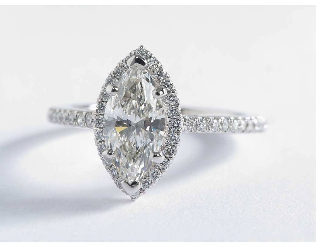 Marquise Diamond Engagement Ring | Wedding, Promise, Diamond In White Gold Marquise Diamond Engagement Rings (View 10 of 15)