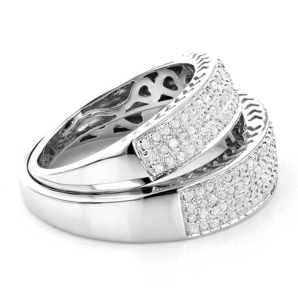 Matching His And Hers Wedding Band Set In Sterling Silver Pertaining To His And Her Wedding Bands Sets (Gallery 7 of 15)