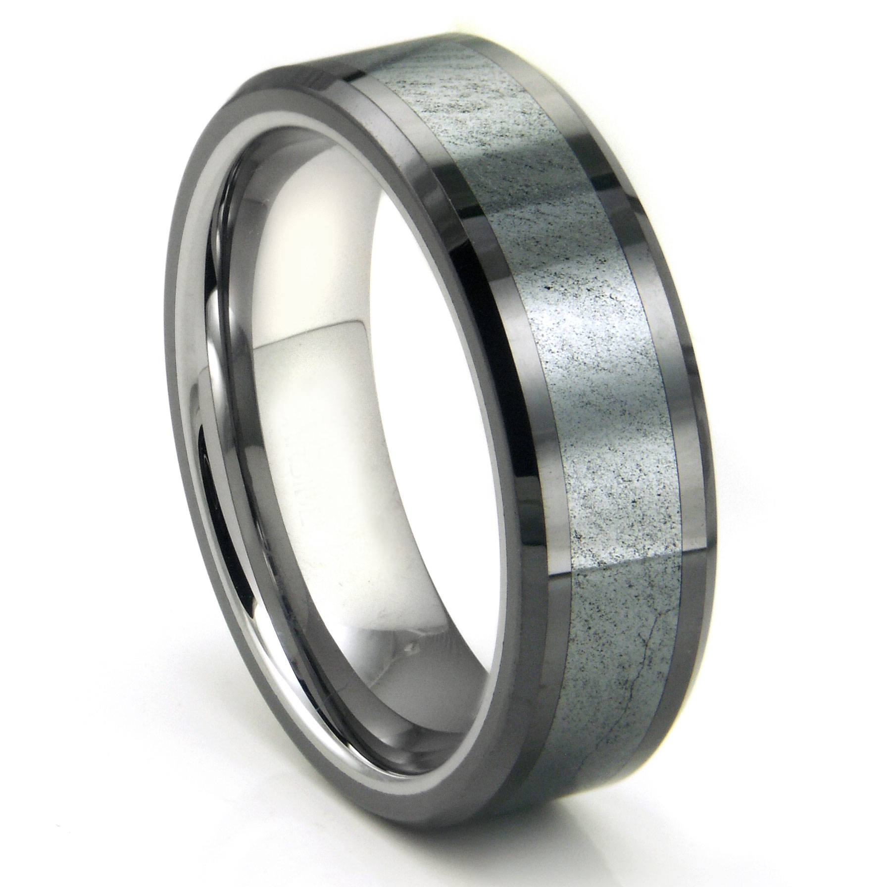 Matte Tungsten Wedding Bands Tags : Tungsten Wedding Ring For Dark Metal Mens Wedding Bands (View 11 of 15)
