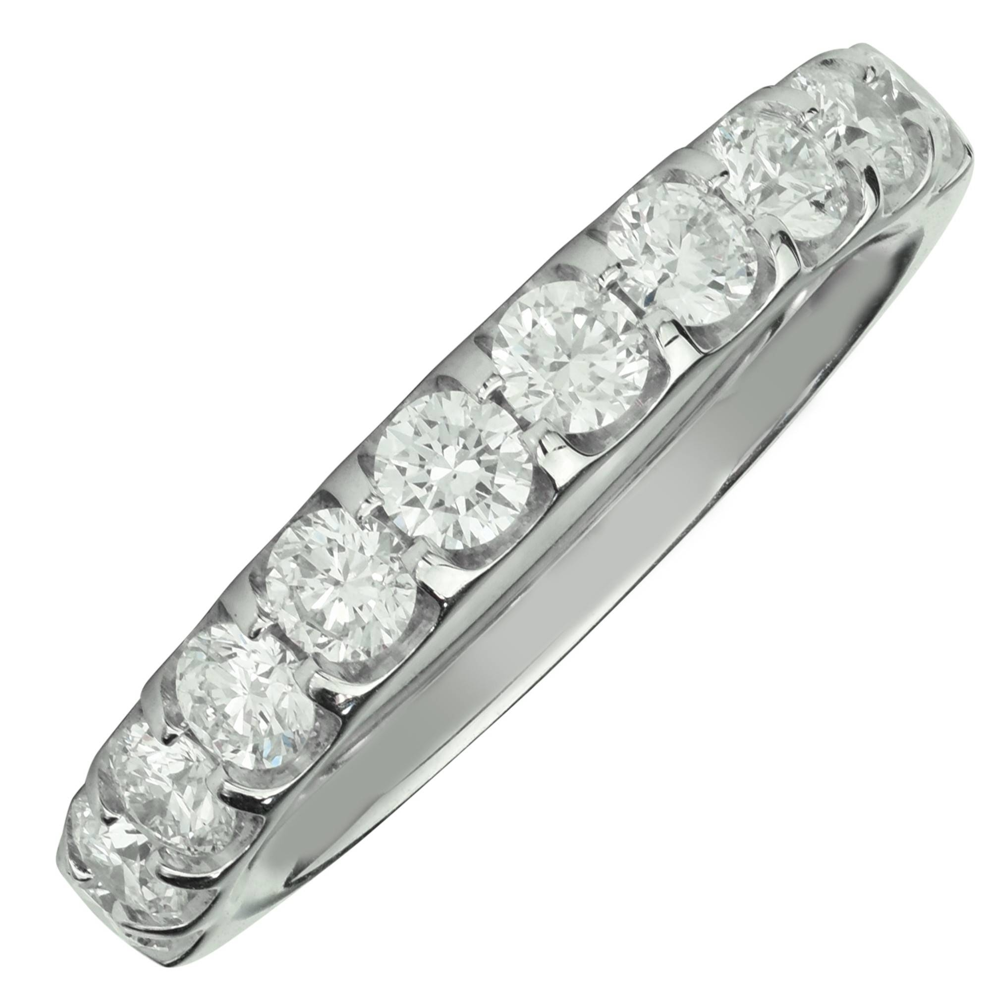 Memoire Odessa Diamond Wedding Band In Platinum (1Ct Tw) With 2018 Platinum And Diamond Wedding Bands (View 7 of 15)