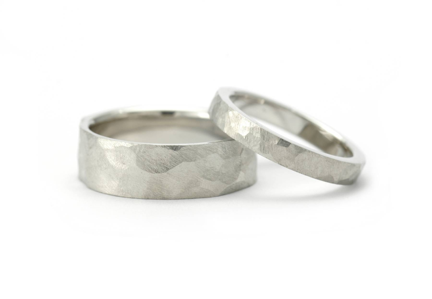 Men's And Women's Matching Wedding Band Sets – Mccaul Goldsmiths Intended For Newest Platinum Hammered Wedding Bands (Gallery 8 of 15)
