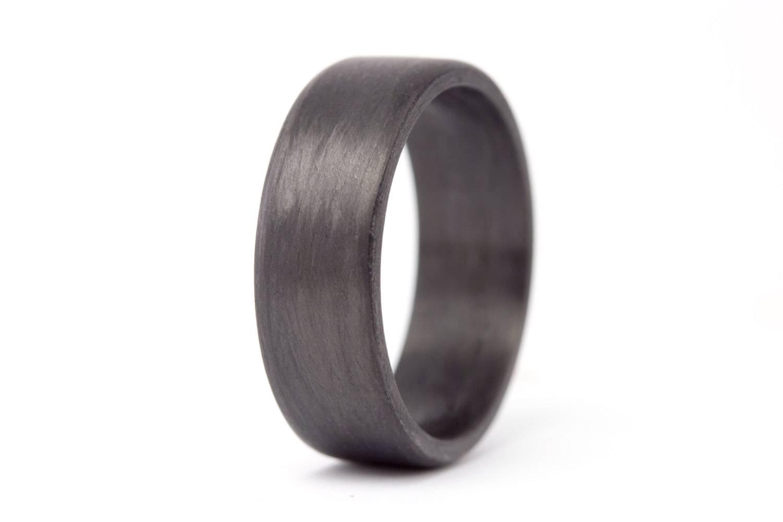 Men's Carbon Fiber Flat Ring (View 14 of 15)