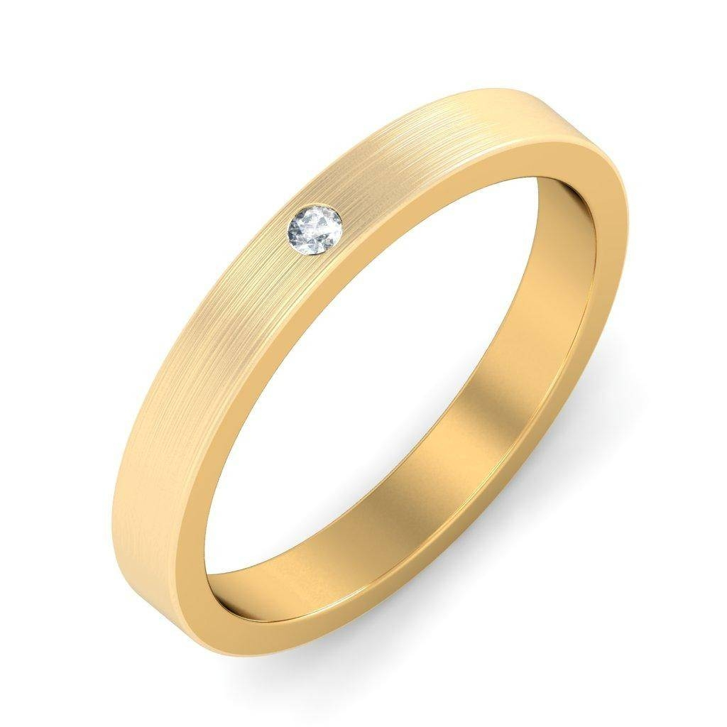 Mens Diamond Wedding Ring Band In Yellow Gold – Jeenjewels Intended For Yellow Gold Wedding Bands For Him (View 11 of 15)