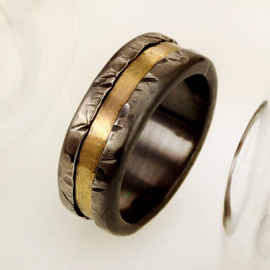Mens Gold And Silver Wedding Band, Mens Engagement Ring, Rose Gold With Mens 2 Tone Wedding Bands (Gallery 9 of 15)