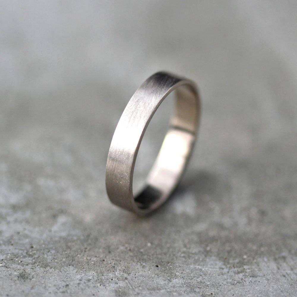 Featured Photo of Mens Flat Wedding Bands
