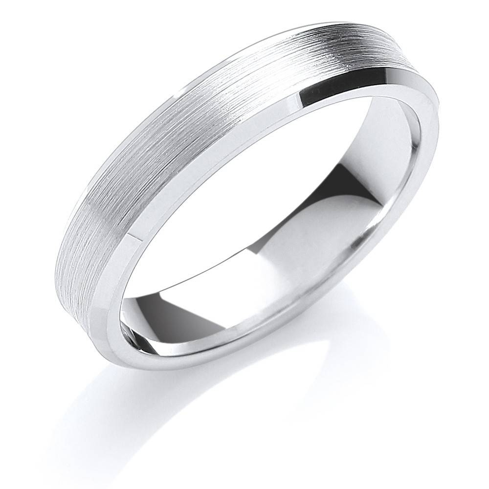 Mens Palladium 6Mm Polished & Bevelled Wedding Ring Throughout Mens Wedding Rings Palladium (View 7 of 15)