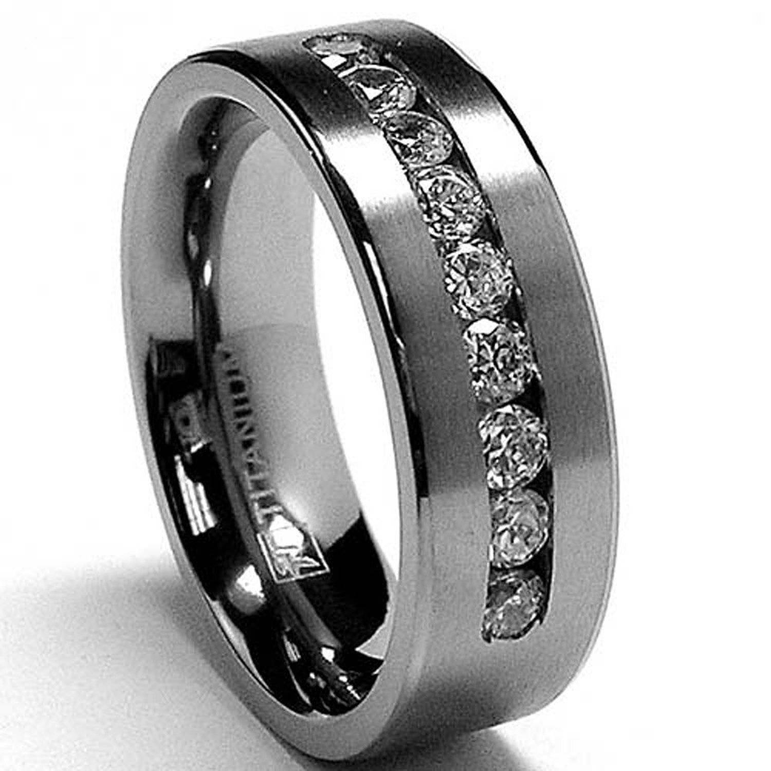 Mens Titanium Wedding Band Fair Titanium Wedding Bands – Wedding With Titanium Men Wedding Rings (Gallery 2 of 15)