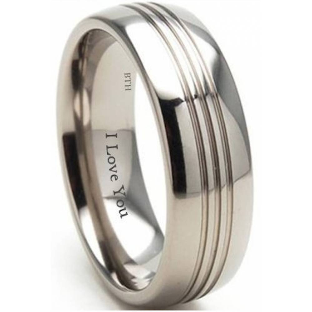 Mens Titanium Wedding Engagement Comfort Band Ring With Regard To Titanium Mens Wedding Rings (View 8 of 15)