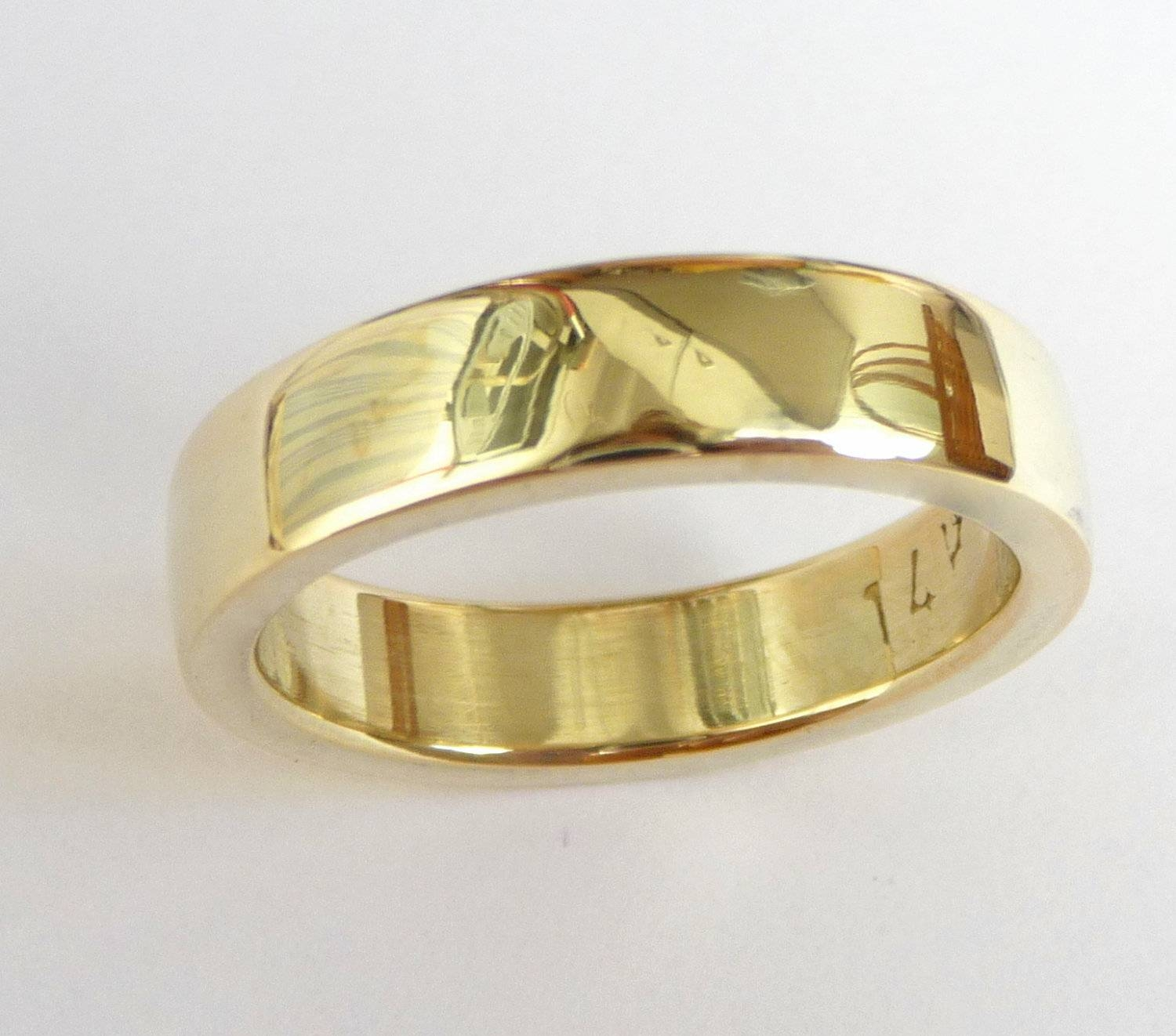 Mens Wedding Band Men's Gold Ring Men Wedding Ring Thick Throughout Male Gold Wedding Bands (View 2 of 15)