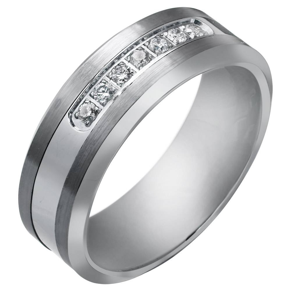 Men's Wedding Rings Sf | Buy Men's Wedding Rings Made From Finest Throughout Tungsten Diamonds Wedding Bands (View 4 of 15)