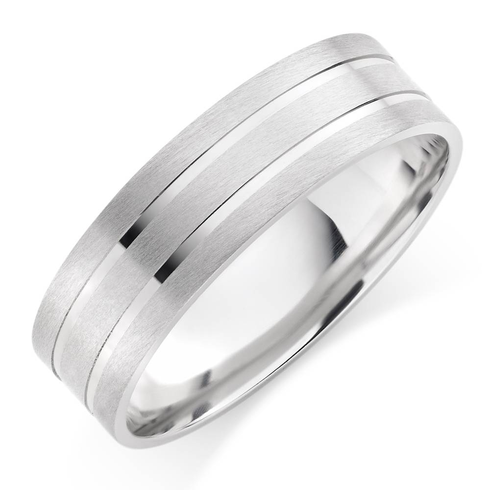 Mens White Gold Wedding Ring | Wedding Corners Within White Gold Wedding Bands For Men (View 12 of 15)