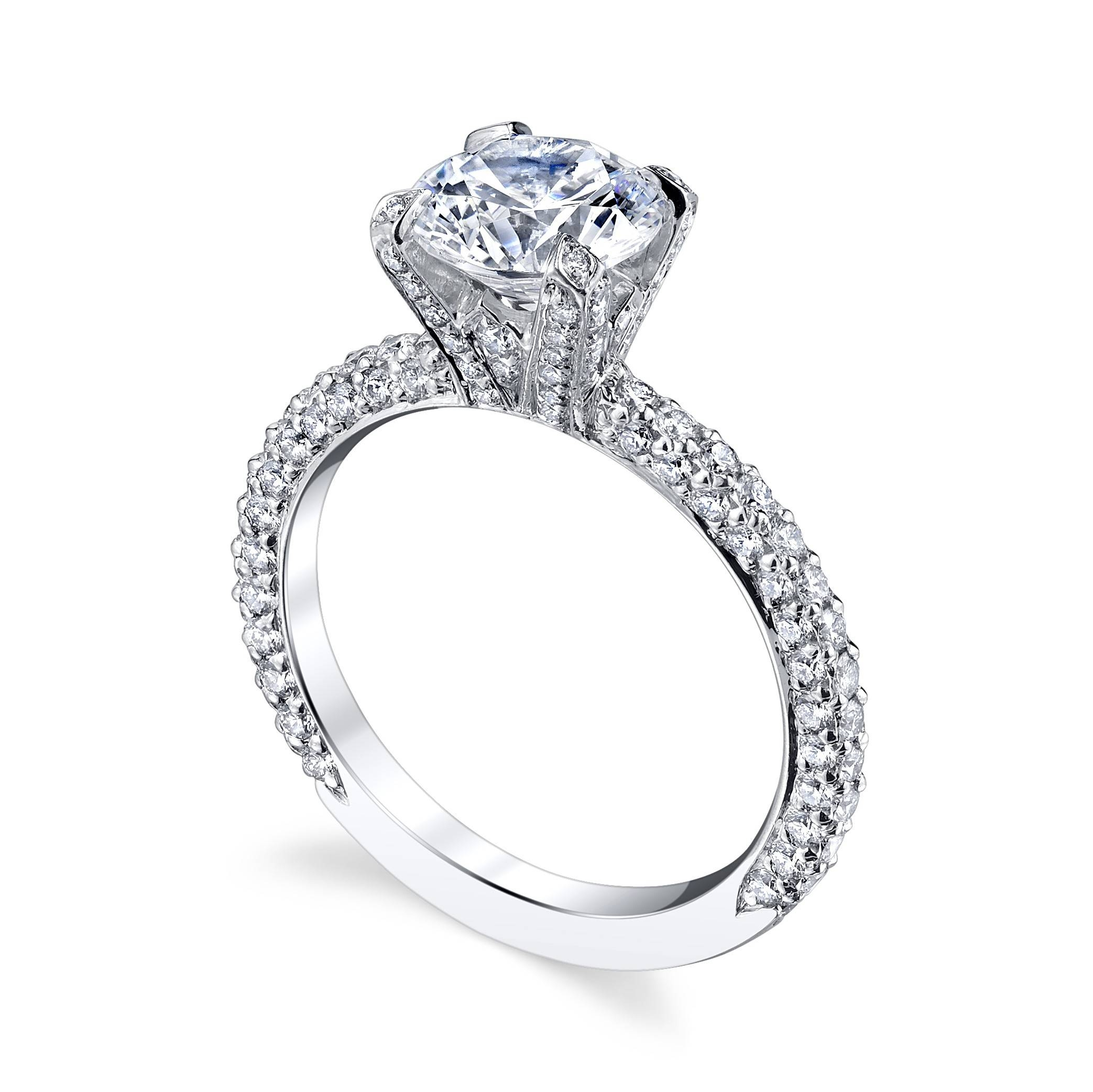 ring bloom tacori full setting pin engagement solitaire jewellery settings
