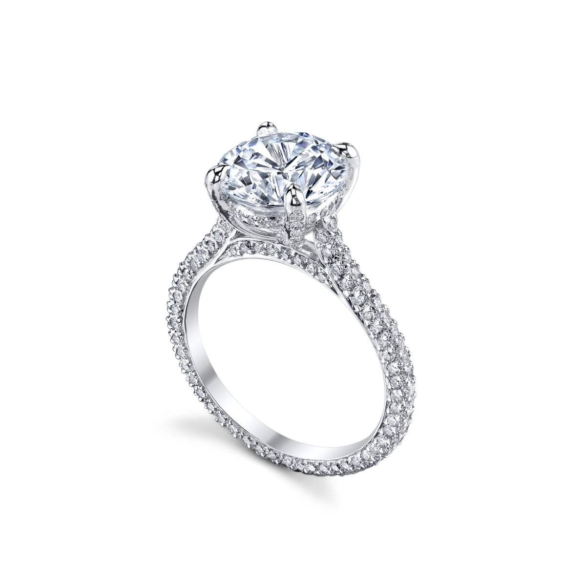 Michael B. Paris Diamond Engagement Ring With Chicago Diamond Engagement Rings (Gallery 2 of 15)