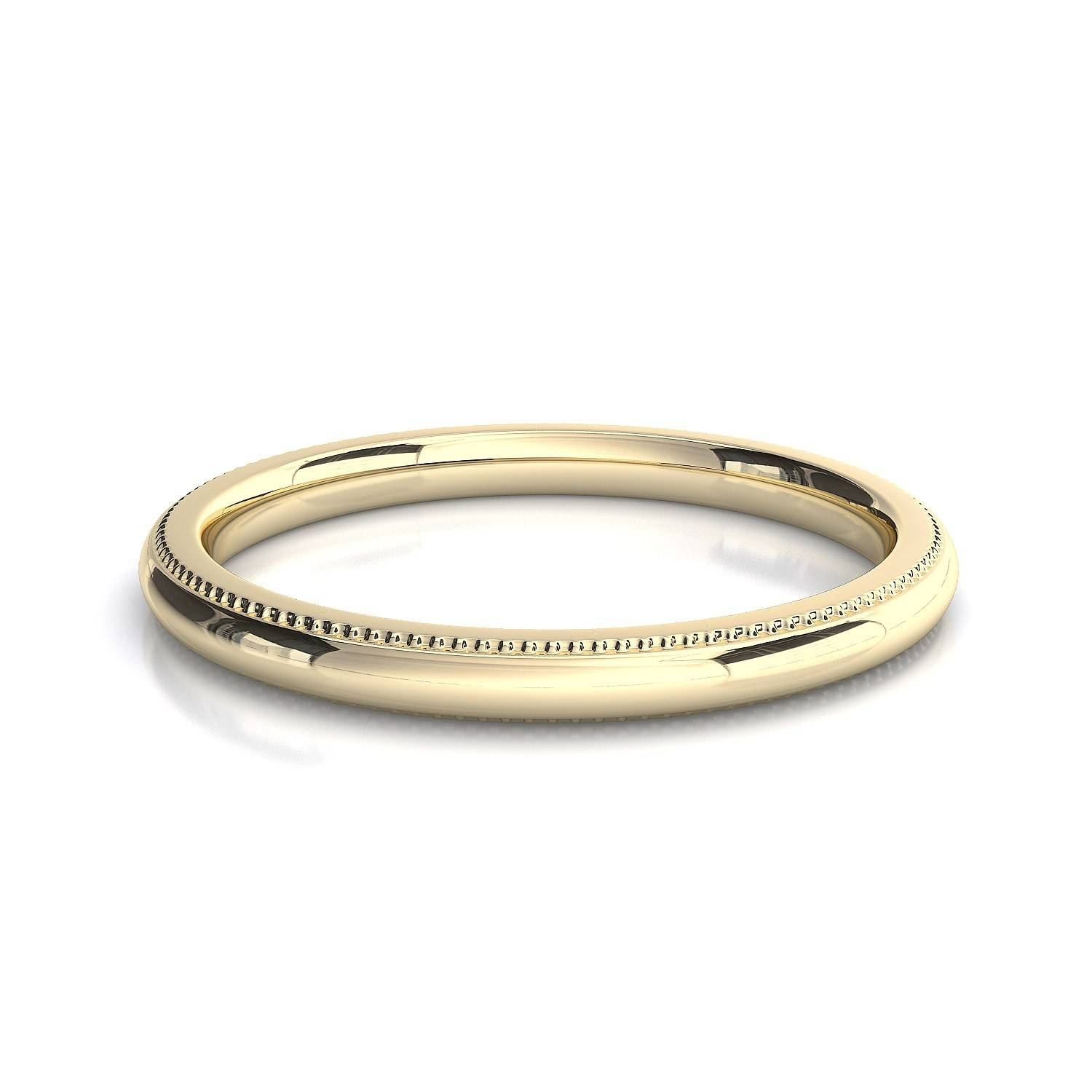 Millgrain Edge Wedding Band Toronto Custom Jewellery Intended For Most Current Womens Plain Wedding Bands (View 5 of 15)