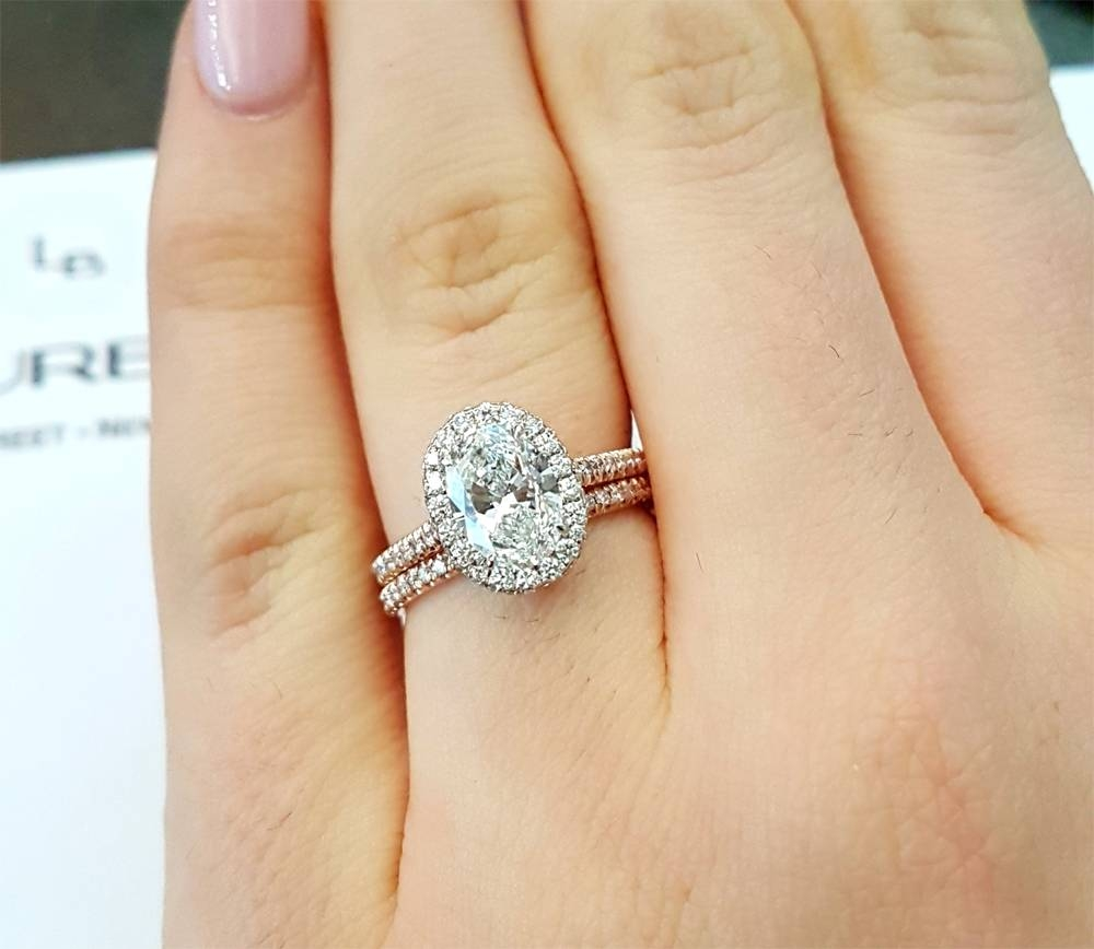 Mixing And Matching Wedding Bands | Jewelry Blog | Engagement Intended For 2017 Oval Diamond Engagement Rings And Wedding Bands (View 5 of 15)