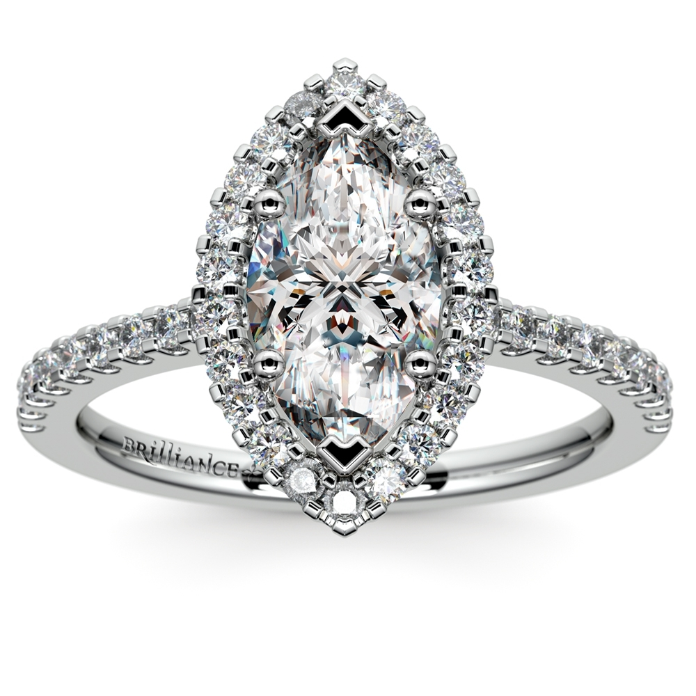 Most Popular Marquise Diamond Settings Within Marquise Diamond Engagement Rings Settings (Gallery 5 of 15)