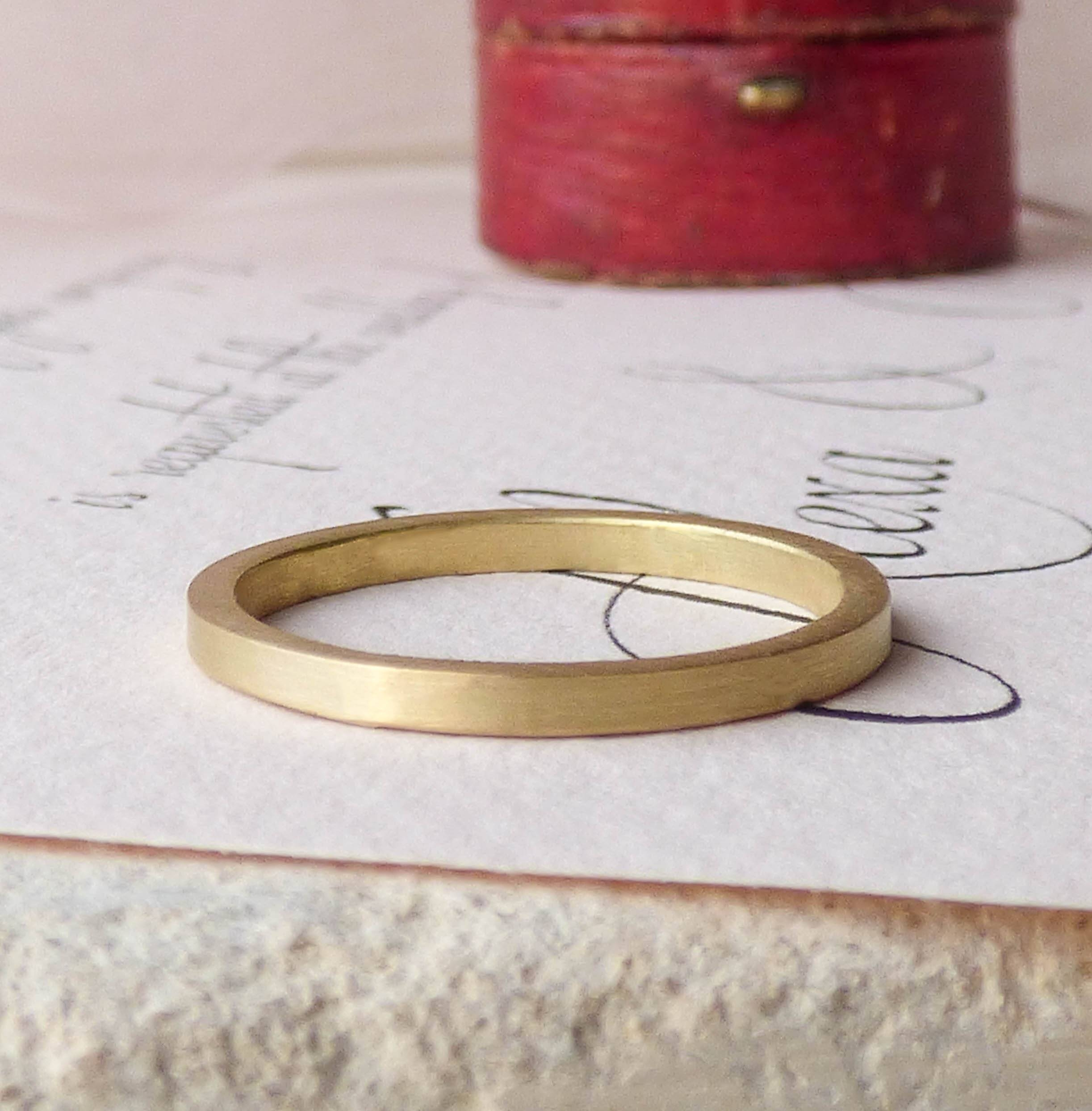Nanna Ethical Wedding Ring In 18Ct Fairtrade Gold – Shakti Ellenwood In Ethical Wedding Bands (Gallery 13 of 15)