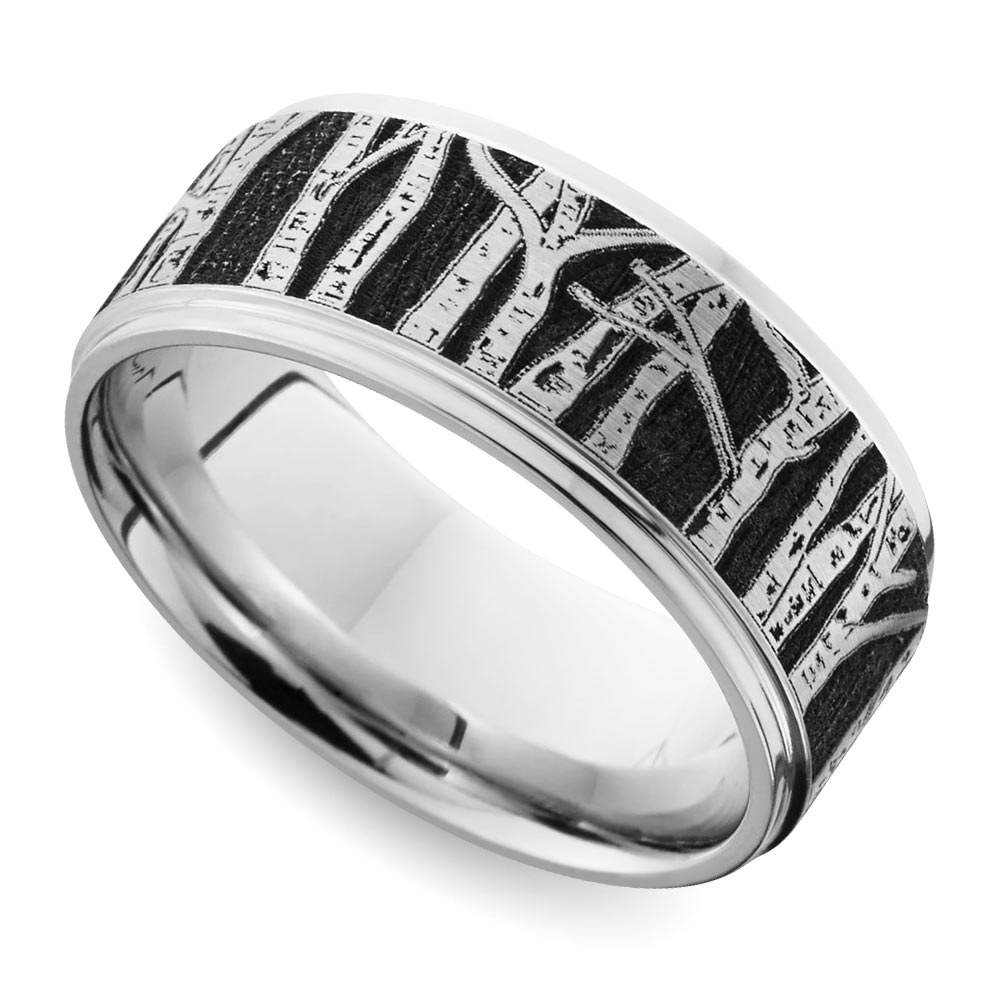 Nature Inspired Men's Rings Pertaining To Carved Wedding Bands (View 11 of 15)