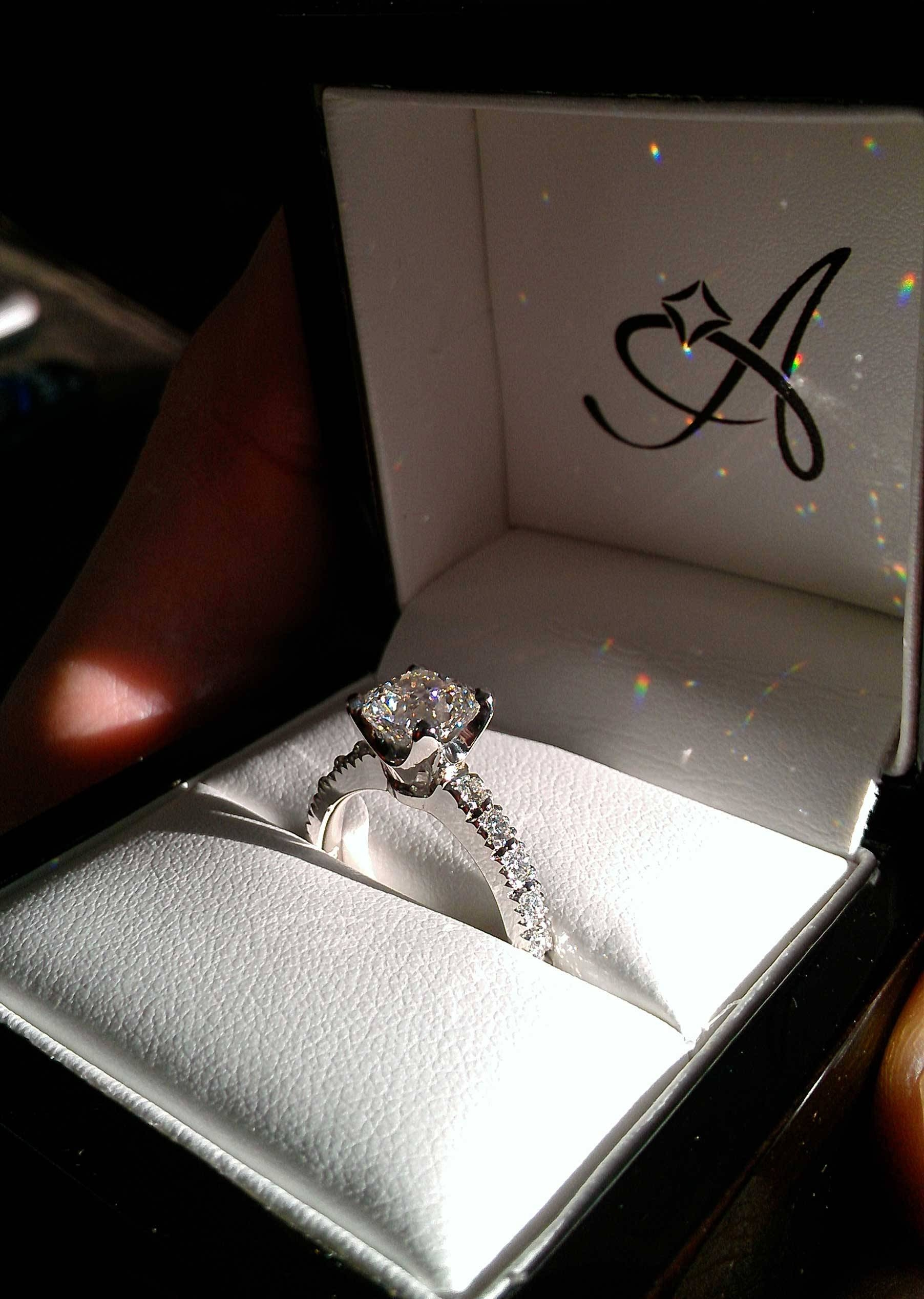 New Year's Proposal: A Wintry British Love Story | Adiamor For Engagement Rings In The Box (View 10 of 15)