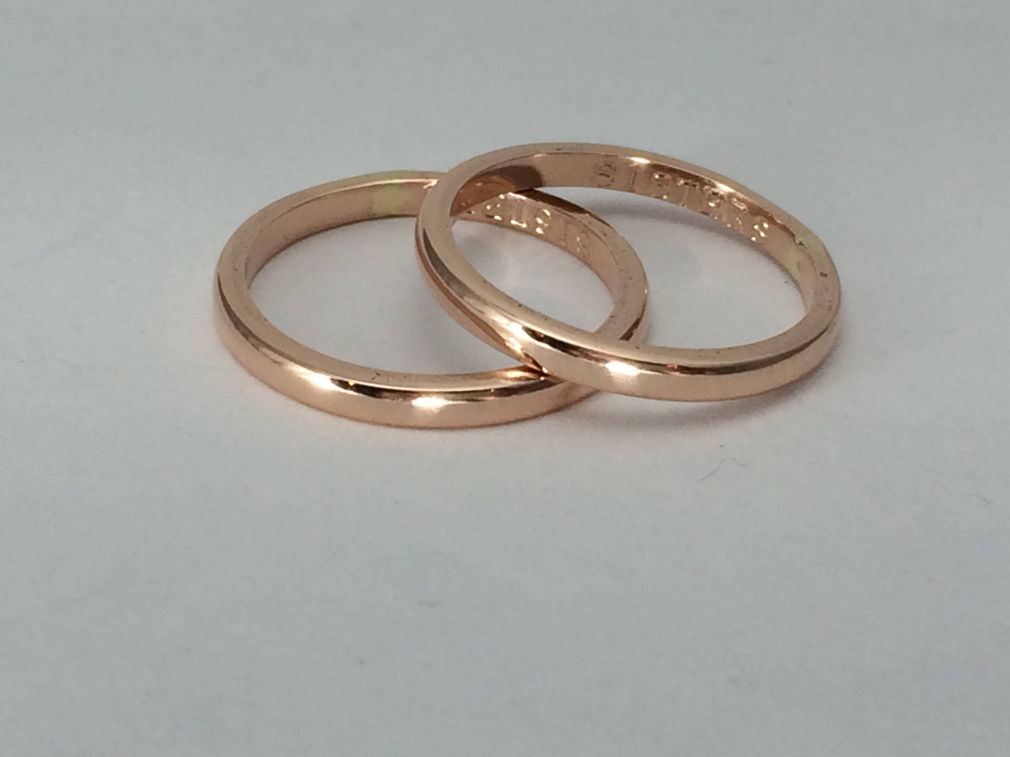 One Ring, 10Kt Gold, 12G Rose Or Yellow Gold Ring, 2Mm Wide,  (View 9 of 15)