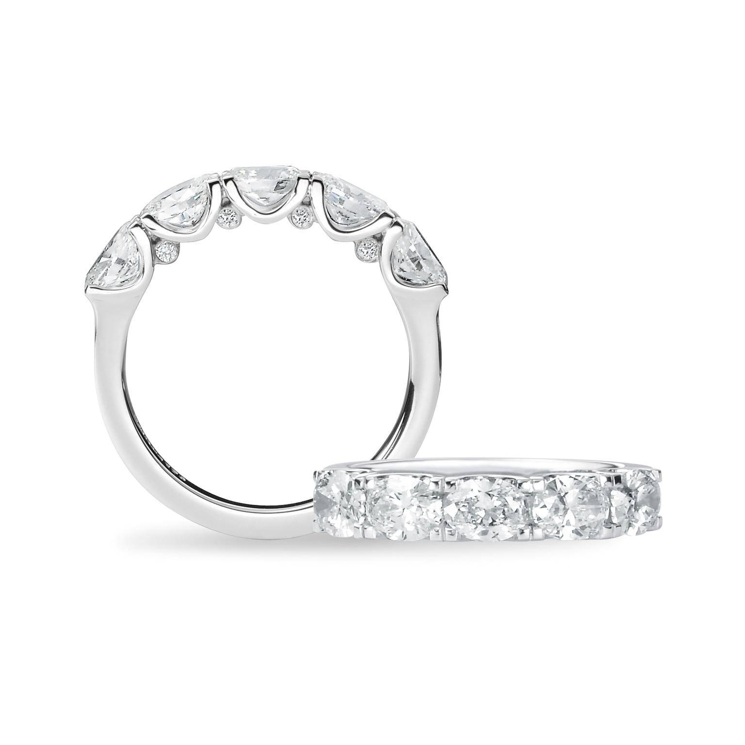 Oval Engagement Rings: The Cut For Maximum Sparkle | The Jewellery Regarding Five Diamond Engagement Ring (View 12 of 15)