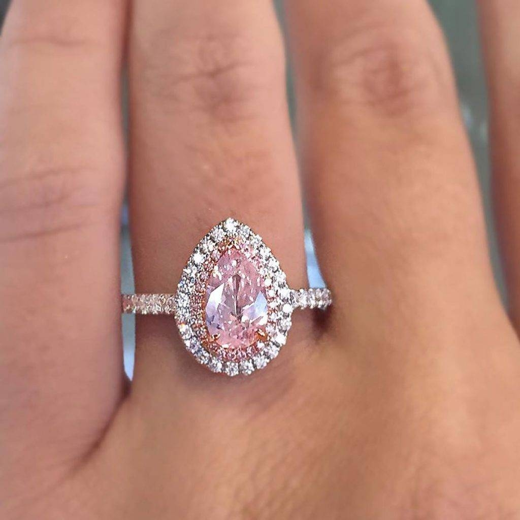 Pastel Diamond Engagement Rings For Easter – Designers & Diamonds Regarding Pink And Diamond Engagement Rings (Gallery 8 of 15)