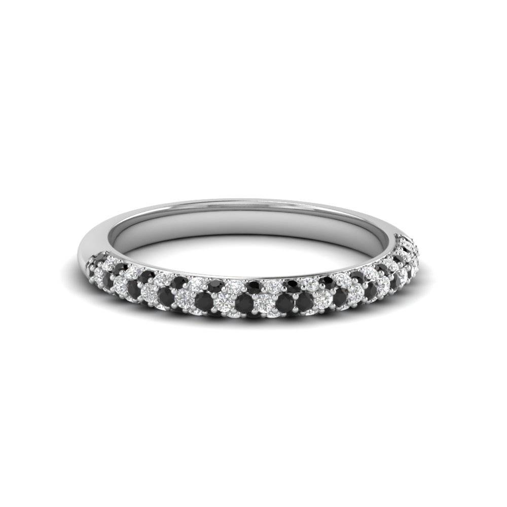 Pave Black Diamond Wedding Band | Fascinating Diamonds Pertaining To Micro Pave Wedding Bands (View 10 of 15)
