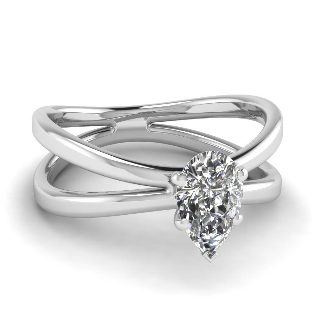 Pear Shaped Engagement Rings | Fascinating Diamonds With Regard To Butterfly Diamond Engagement Rings (View 10 of 15)
