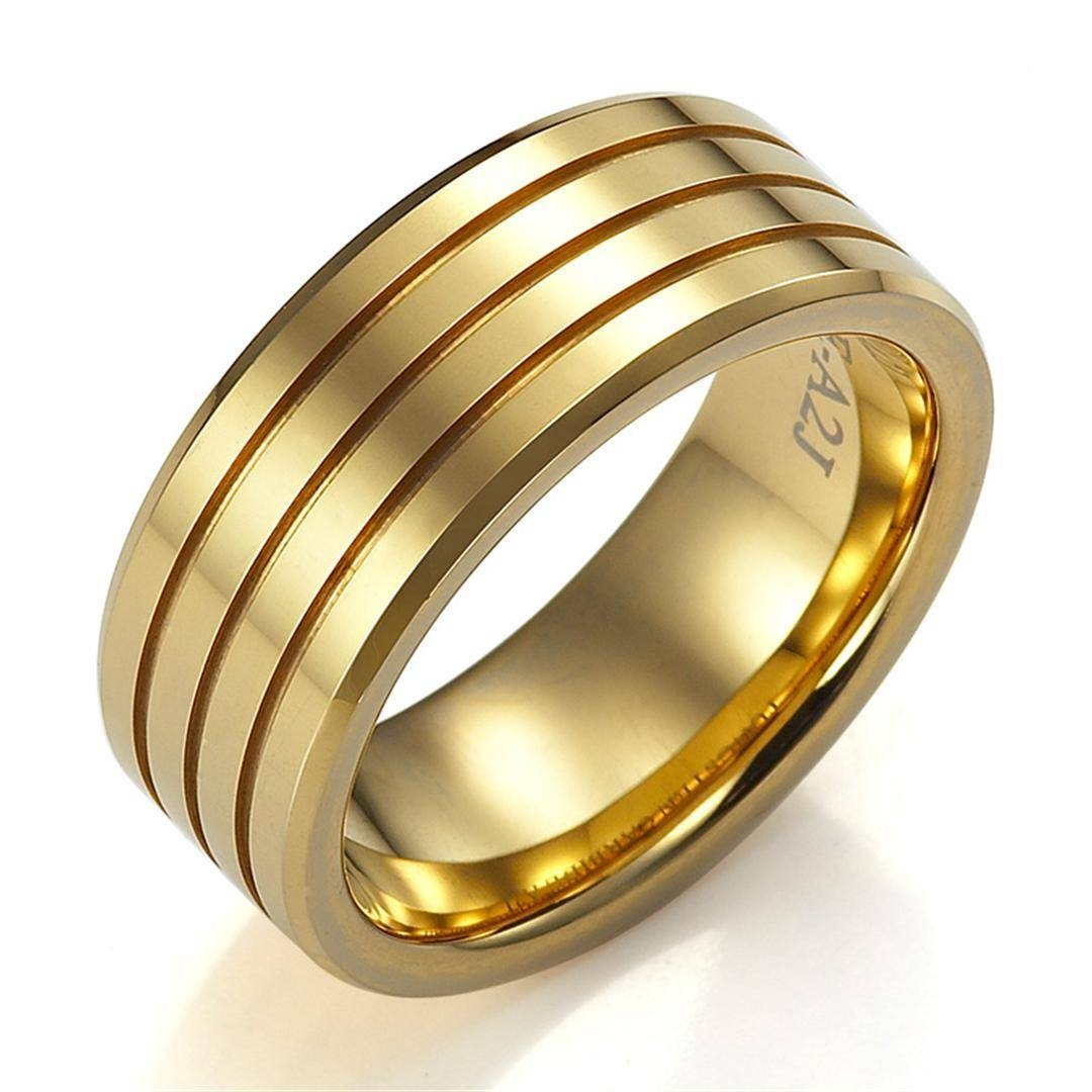 Perfect Gold Wedding Rings For Men – Weddingood Intended For Gold Wedding Bands For Men (View 8 of 15)