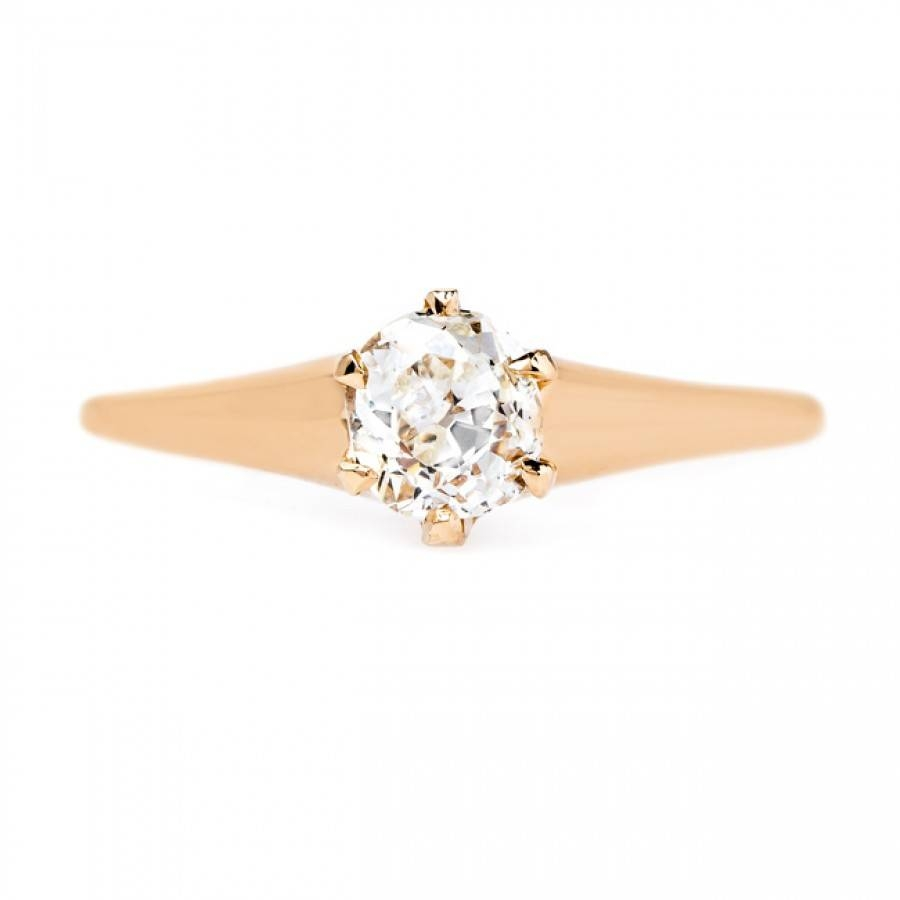 Perfectly Simple Victorian Solitaire | Chandler With Chandler Engagement Rings (Gallery 1 of 15)