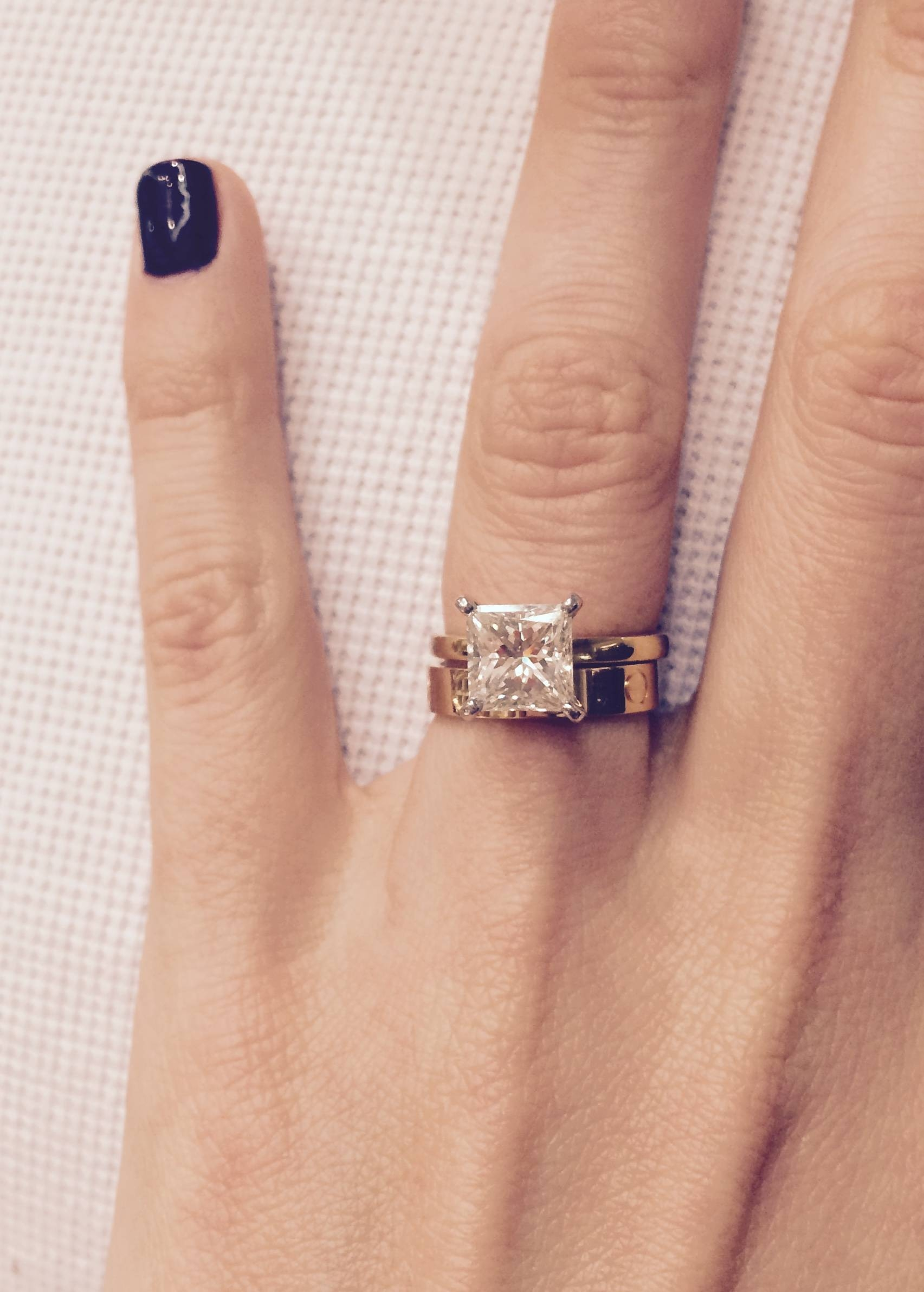 Pictures Of Your Princess Cut Diamond Engagement Rings Throughout  (View 10 of 15)