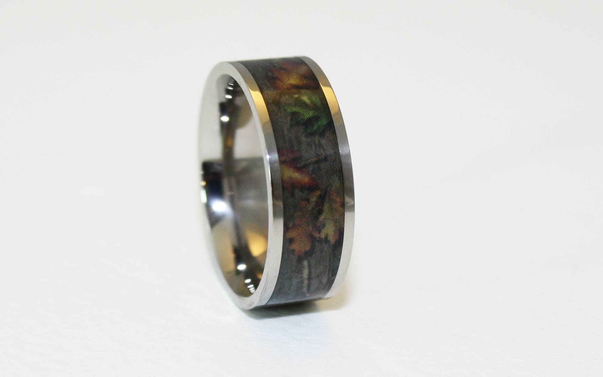 Pink Camo Ring Bevel Titanium Camo Rings Hunting Camo Wedding Ring For Custom Camo Wedding Rings (View 10 of 15)
