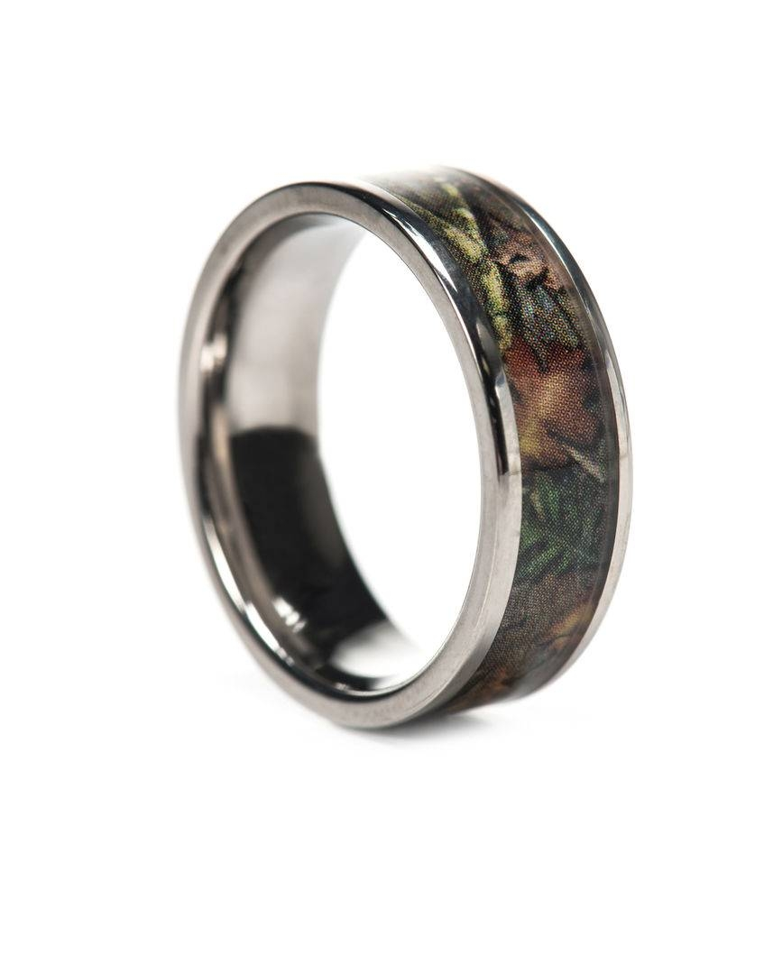 Pink Camo Ring Bevel Titanium Camo Rings Hunting Camo Wedding Ring Pertaining To Custom Camo Wedding Rings (View 12 of 15)