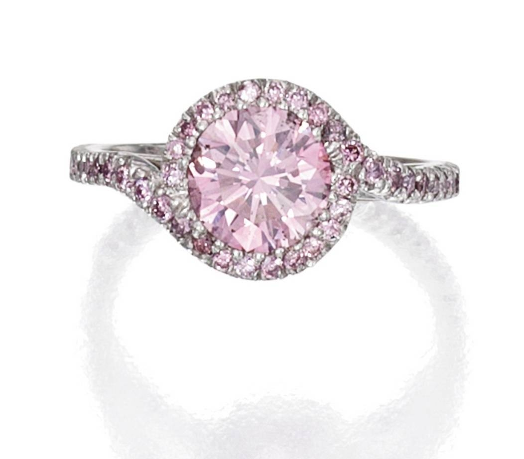 Pink Diamond Engagement Rings For Women Black And Pink Diamond Within Newest Pink And Diamond Wedding Bands (View 5 of 15)