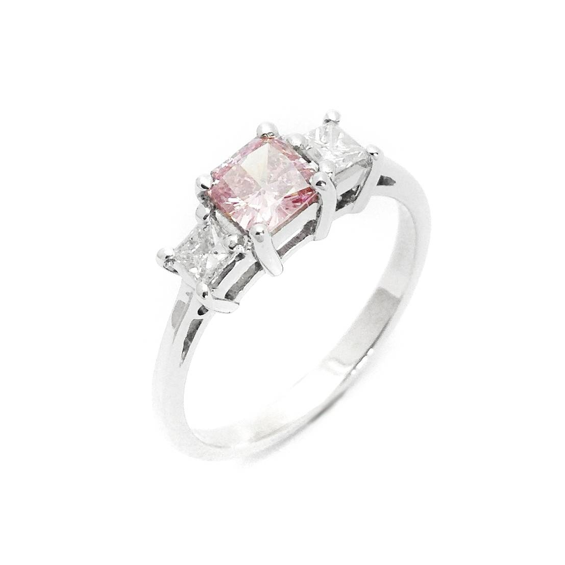 Pink Diamond Flower Engagement Ring With Pink And Diamond Engagement Rings (View 12 of 15)