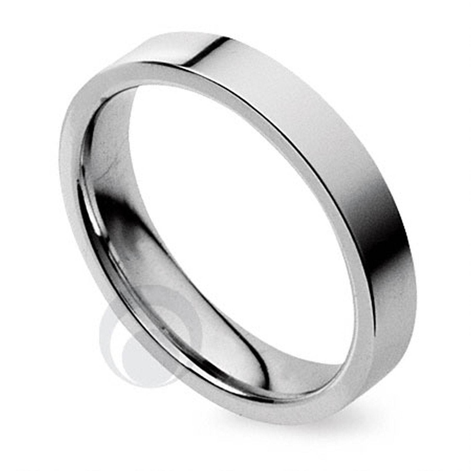 Plain Flat Court Platinum Wedding Ring From The Platinum Ring For Plain Mens Wedding Bands (Gallery 15 of 15)