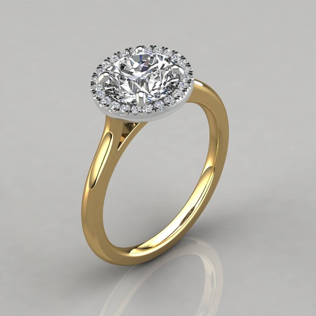 Plain Shank Floating Halo Engagement Ring – Puregemsjewels With Regard To Floating Diamond Engagement Rings (View 13 of 15)