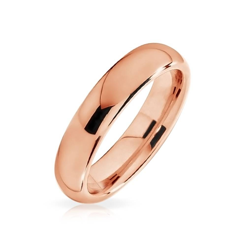 Plated Tungsten Wedding Band 4Mm With Most Recently Released 4Mm Comfort Fit Wedding Bands (View 11 of 15)