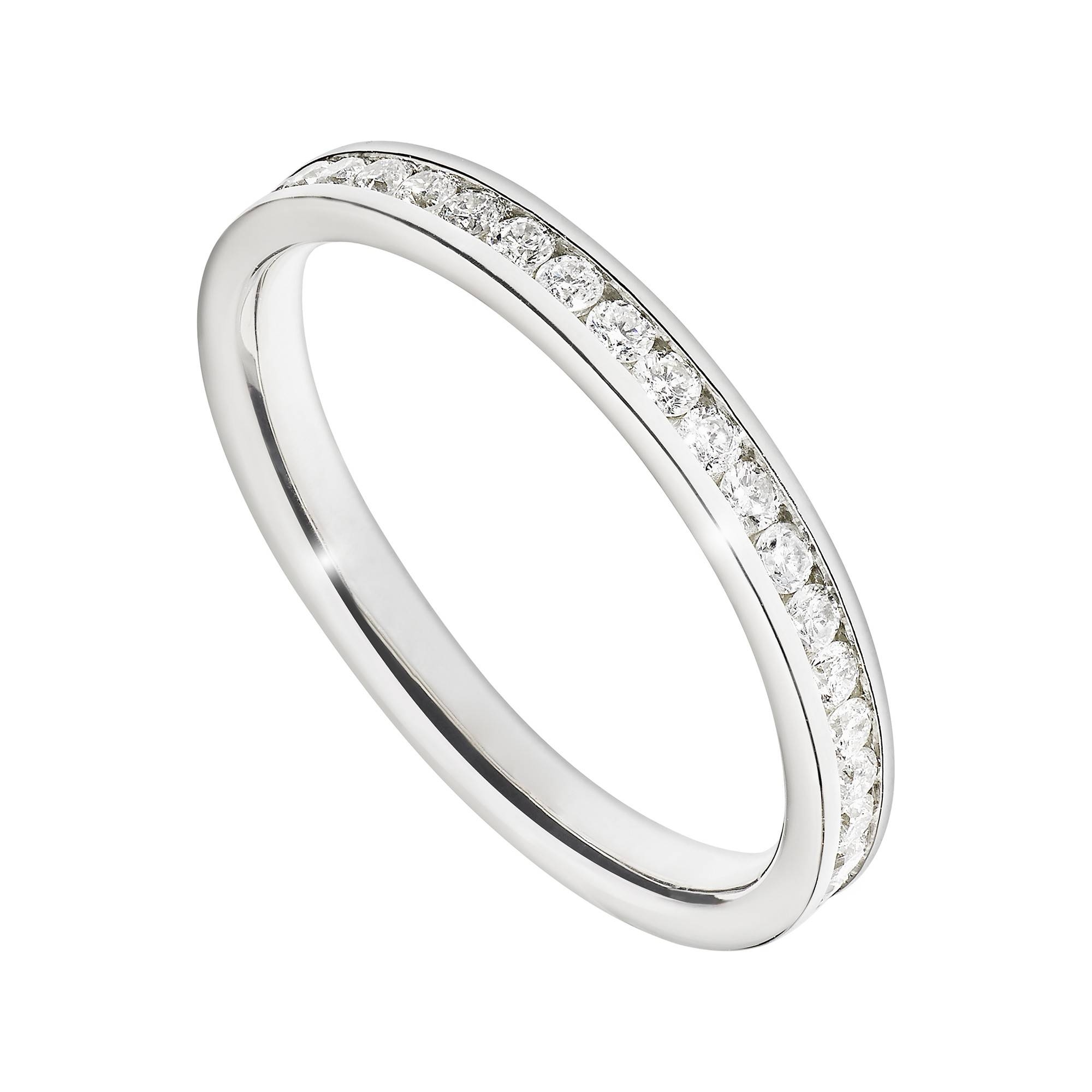Platinum 0.25 Carat Diamond Channel Set Ring For Best And Newest Platinum Channel Set Wedding Band (Gallery 5 of 15)